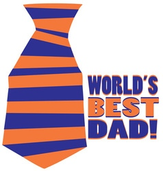 Worlds best dad vector