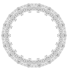 Frame lace ornament vector