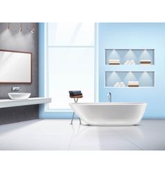 Bathroom Interior Realistic Design vector image vector image