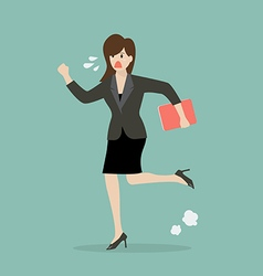 Business woman running in suit vector