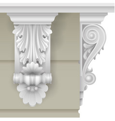 classic facade bracket vector image