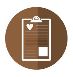 Clipboard heart report shado vector