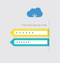 Cloud download vector