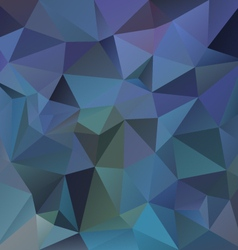 dark blue polygon triangular pattern background vector image