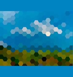 defocused hexagon landscape background vector image