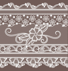 fabric lace with flowers decoration fashion vector image vector image