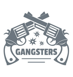 gangsters logo vintage style vector image vector image