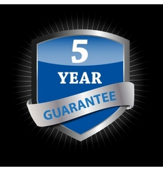 Guarantee label shield vector image