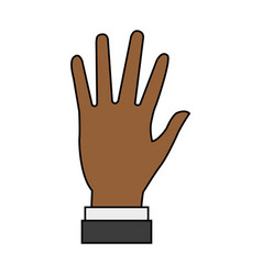 Hand person cartoon vector