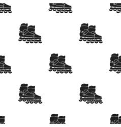 Inblack skates icon in black style isolated on vector image