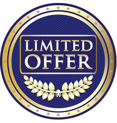 limited offer label vector image vector image
