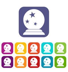 Magic ball icons set vector