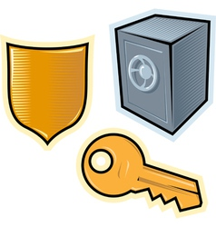objects for security vector image vector image