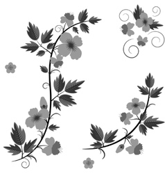 retro floral background with flowers vector image