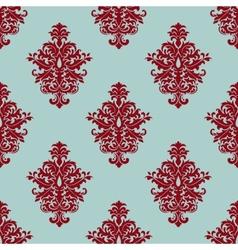 Retro maroon or crimson seamless pattern vector