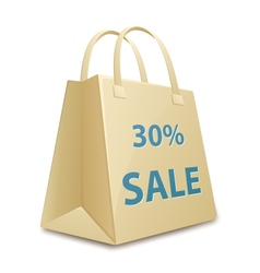 Sale shopping bag vector