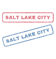 salt lake city textile stamps vector image vector image