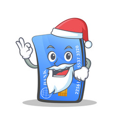 santa credit card character cartoon vector image vector image