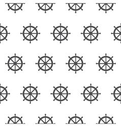 Seamless pattern with gray rudders Nautical theme vector image vector image