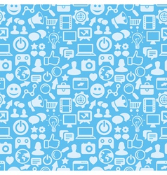 seamless pattern with social media icons vector image vector image