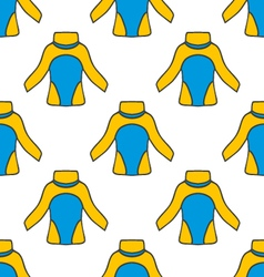 Seamless pattern with thermal underwear vector