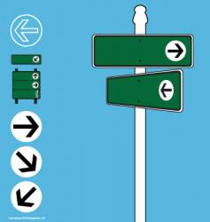 street sign elements vector image vector image