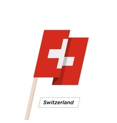 Switzeland ribbon waving flag isolated on white vector