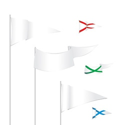 triangle white flags template with examples of use vector image vector image