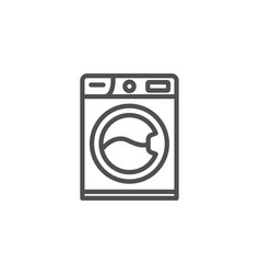 washing machine line icon cleaning service vector image