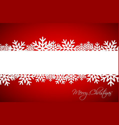 white christmas snowflake on red background vector image vector image