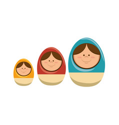 wood eggs toy icon vector image vector image