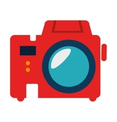 Vintage photographic camera icon vector