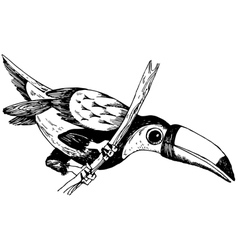 Keel-billed toucan vector