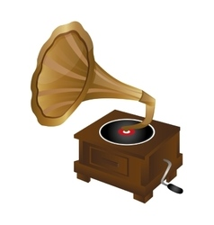 gramophone vintage icon image vector image
