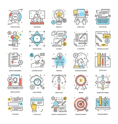 Flat color line icons 7 vector