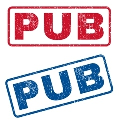 Pub rubber stamps vector