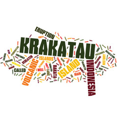 Krakatau indonesia text background word cloud vector
