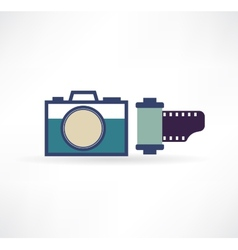 Photo icon Camera with the film vector image