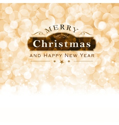 Merry Christmas Typography with blinking vector image