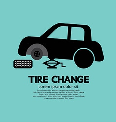 Tire changing graphic vector