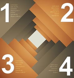 Creative itemplate design of infograph vector