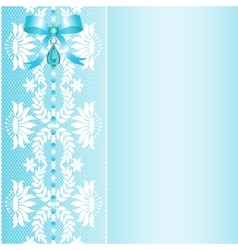 Lace with bow vector