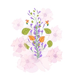 Field flowers watercolor vector