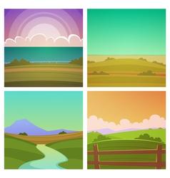 Cartoon Landscape Set vector image