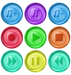 Playback buttons vector