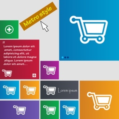 Shopping cart icon sign buttons modern interface vector