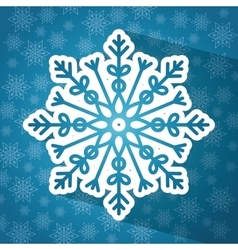 Winter snow or snowflake vector