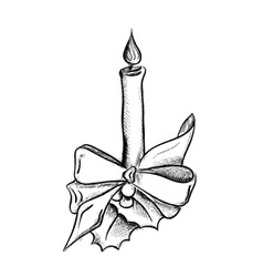 Candle drawing vector