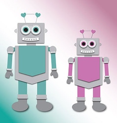 Cute little robots vector