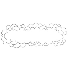 Wide cloud vector